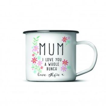 Personalised I Love You A Whole Bunch Enamel Mug