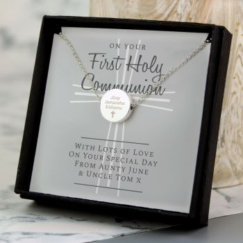 Personalised First Holy Communion Necklace & Box 1st Communion