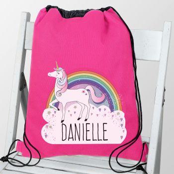 Personalised UNICORN PE Kit Bag
