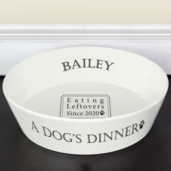 This fun and practical 20cm Bone China pet bowl is perfect for a pet's food or water.