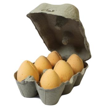 6 x Tangerine & Grapefruit Bath Bomb Eggs