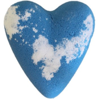 Megafizz Bath Heart Bath Bomb - Adam - Blue