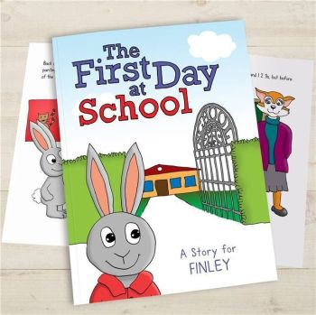 Personalised First Day At School Book - Available in Soft or Hard Back