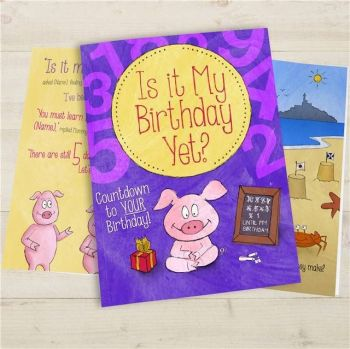 Personalised Is It My Birthday Yet? Book - Available in Soft or Hard Back