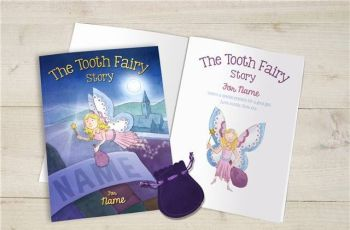 Personalised Tooth Fairy Book - Available in Soft or Hard Back
