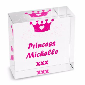 Personalised Crystal Token - Medium - Princess