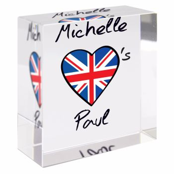 Personalised Crystal Token - Medium - Union Jack