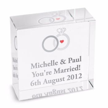 Personalised Crystal Token - Medium - Rings