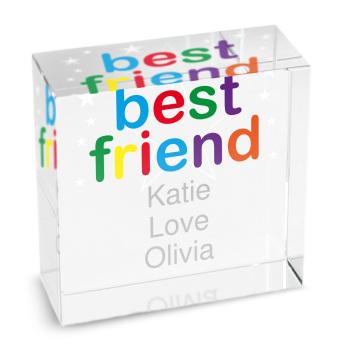 Personalised Crystal Token - Medium - Best Friend
