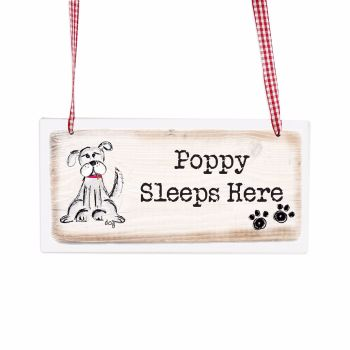 Personalised Dog Wooden Hanging Sign