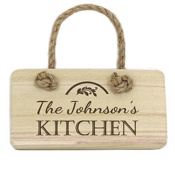 Personalised Wooden Hanging Sign - Kitchen Sign
