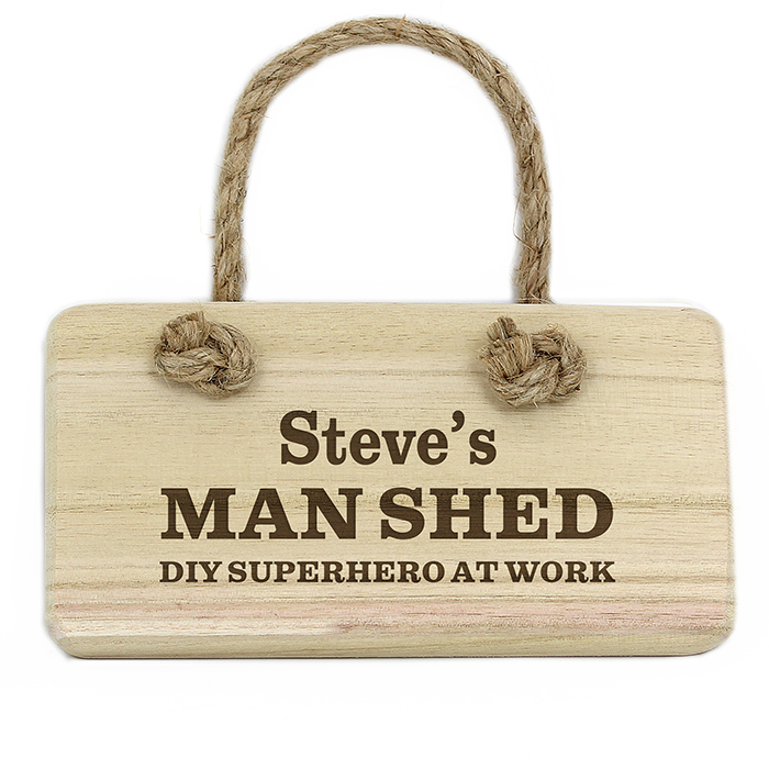 Personalised Wooden Hanging Sign - Man Shed Sign
