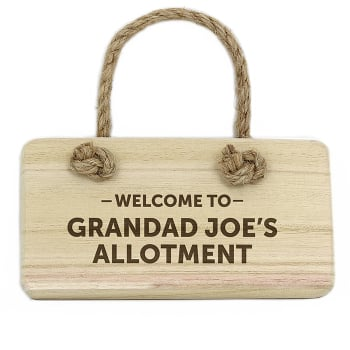 Personalised Wooden Hanging Sign - Welcome To Sign