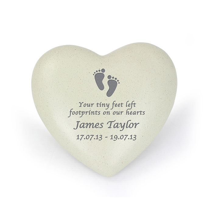 Personalised Grave Memorial - Footprints