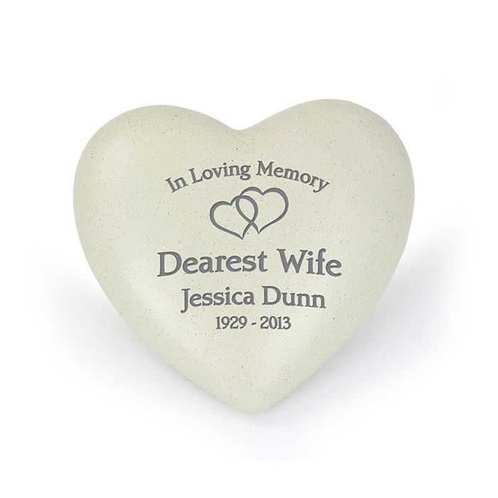 Personalised Grave Memorial - Interlinked Hearts