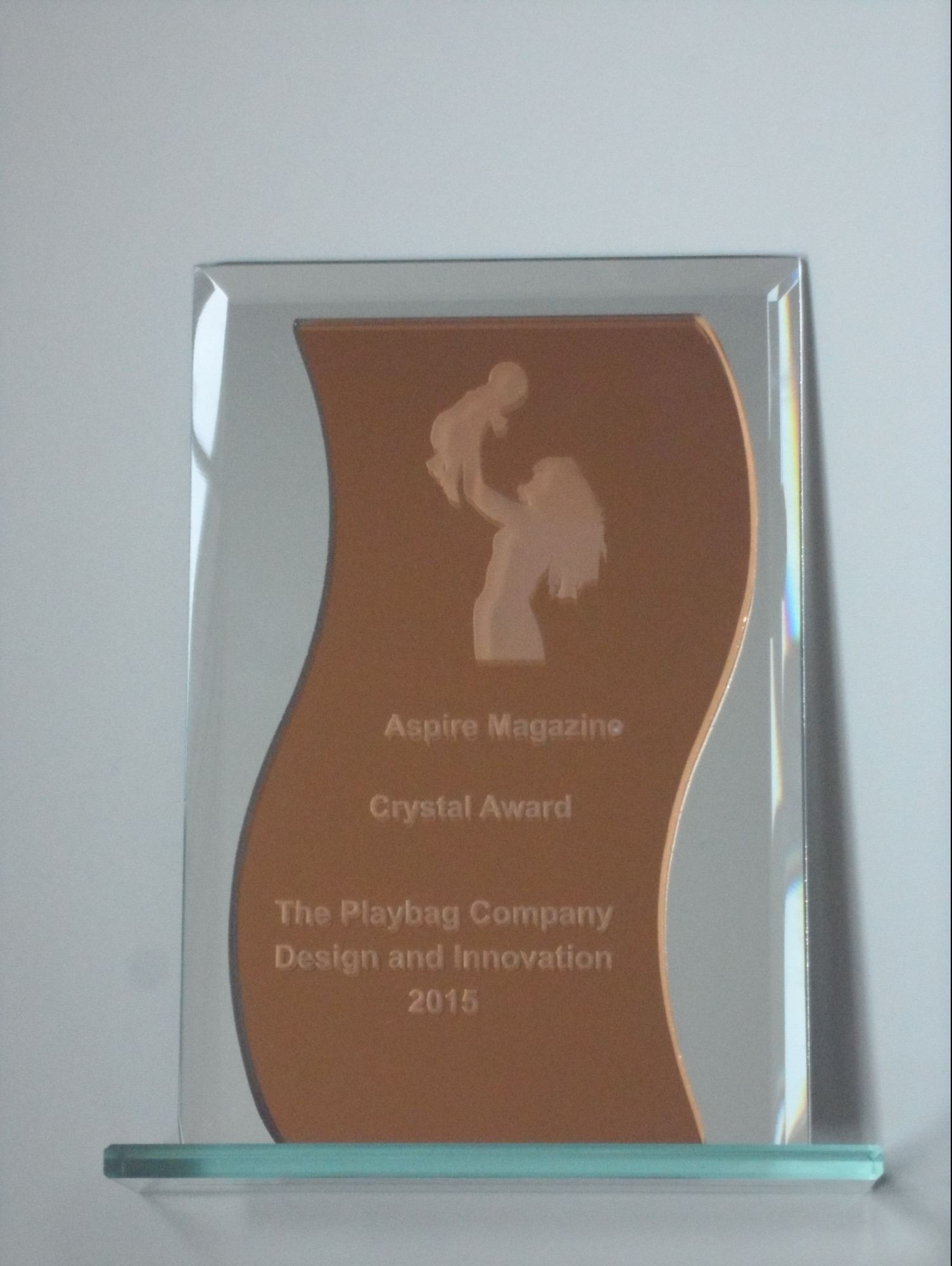 PlayBag awarded the Aspire Crystal Trophy for Design and Innovation