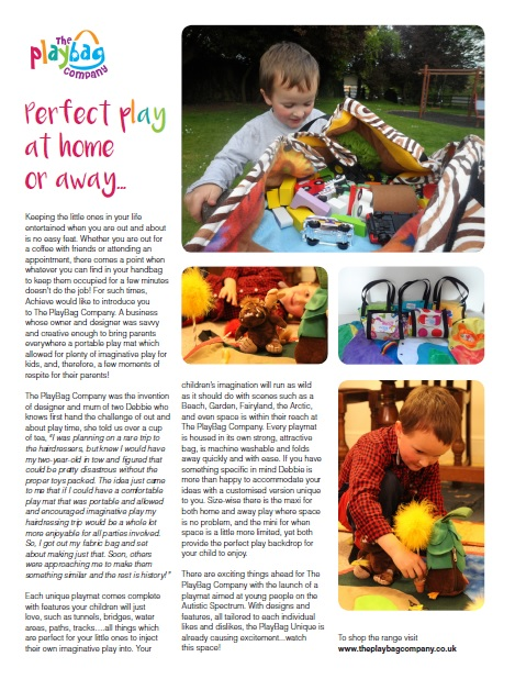 Featured article in Acheive magazine