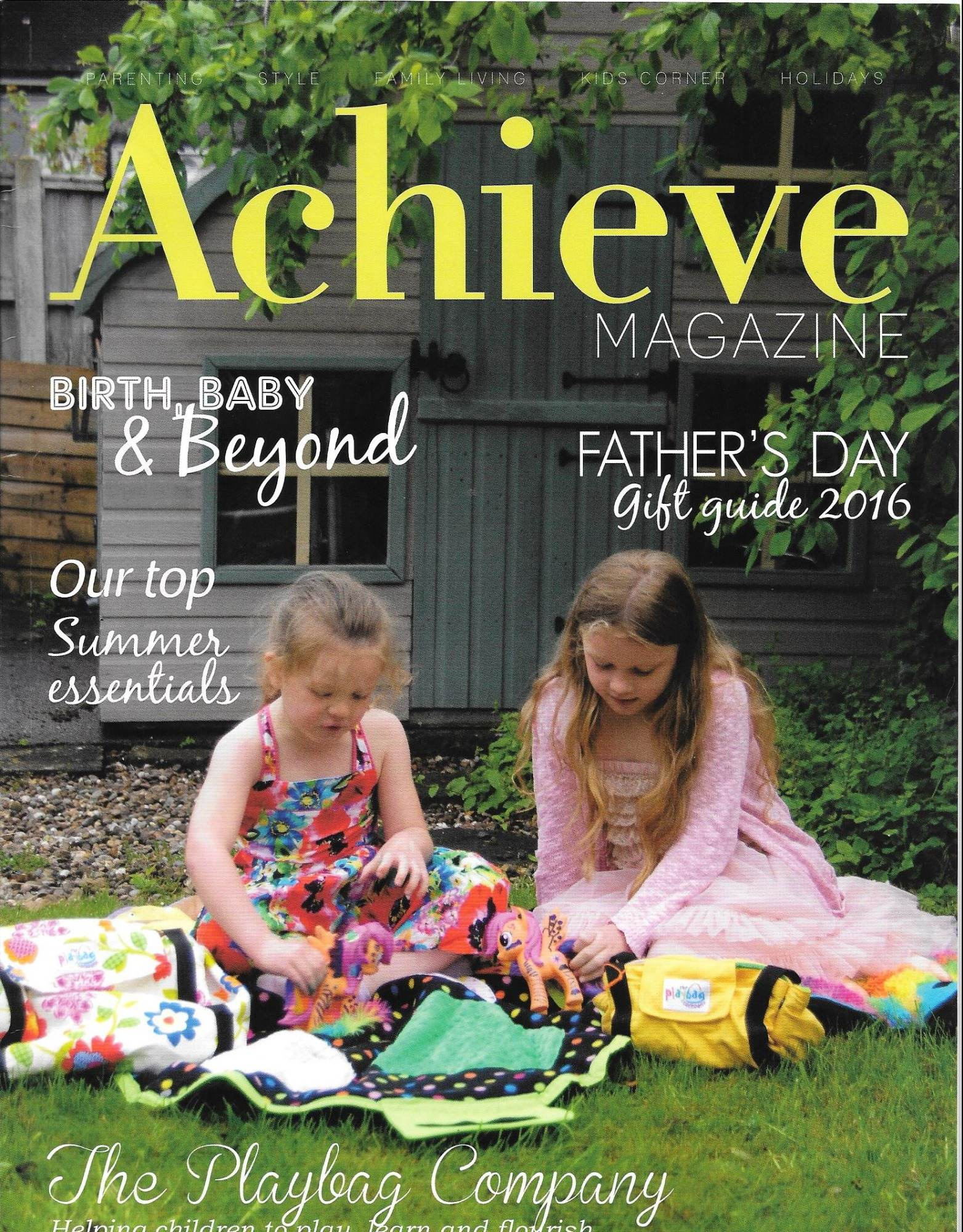 On the cover of Achieve Magazine Issue 11