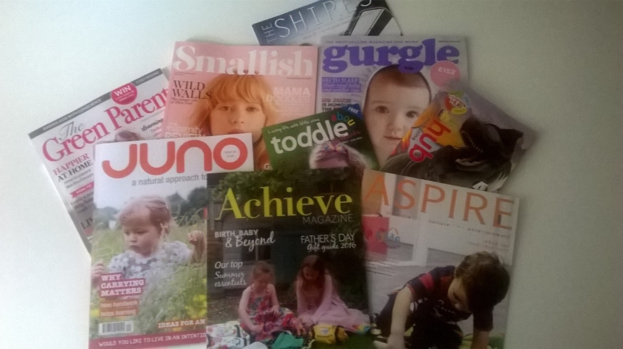 Selection of magazines where the PlayBag has featured