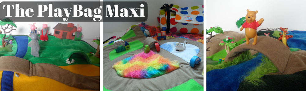 The PlayBag Maxi - innovative children's play mat and toy bag in one.