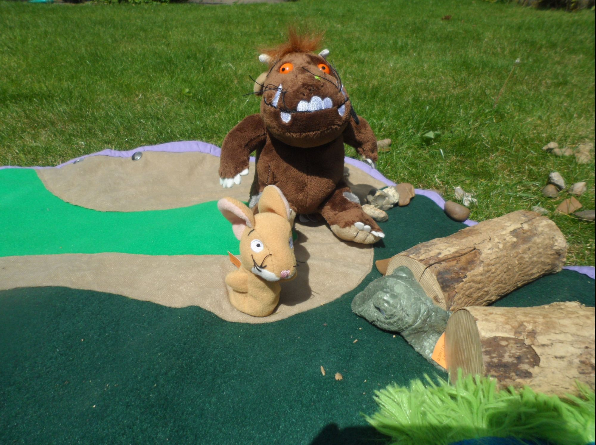 The Gruffalo story re-enacted on The Shire PlayBag