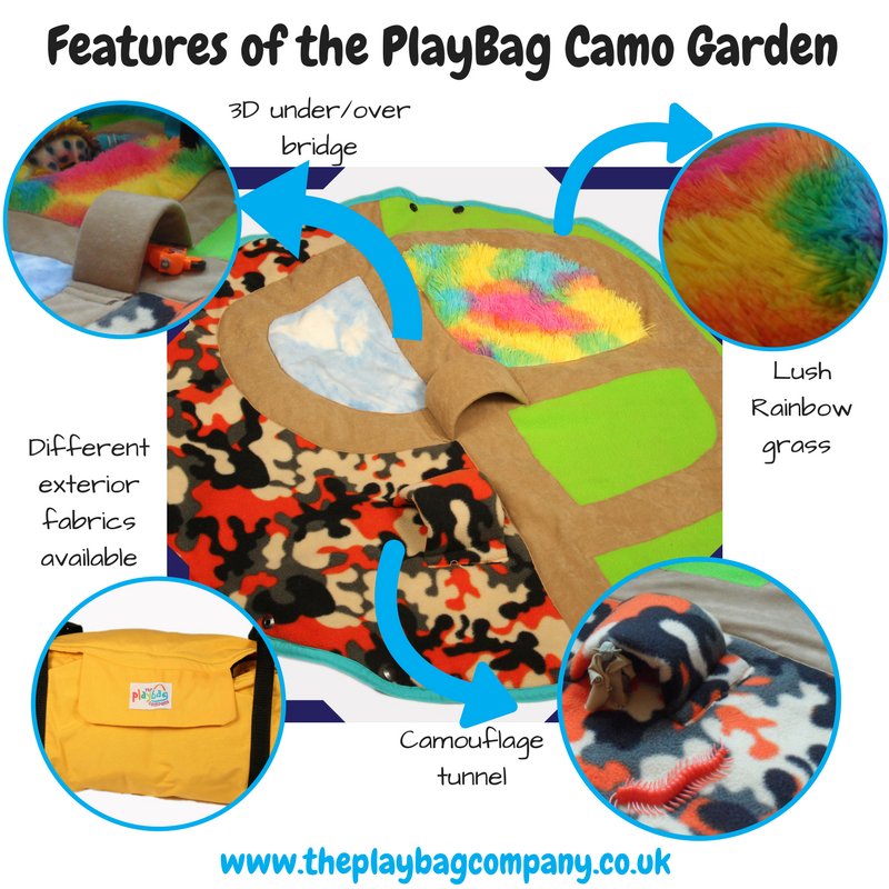 Features of the PlayBag camo garden