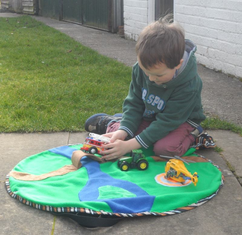 in the garden with the original playbag