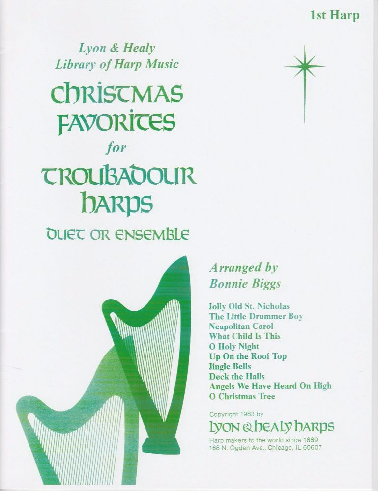 Christmas Favorites for Troubadour Harps Arranged by Bonnie Briggs
