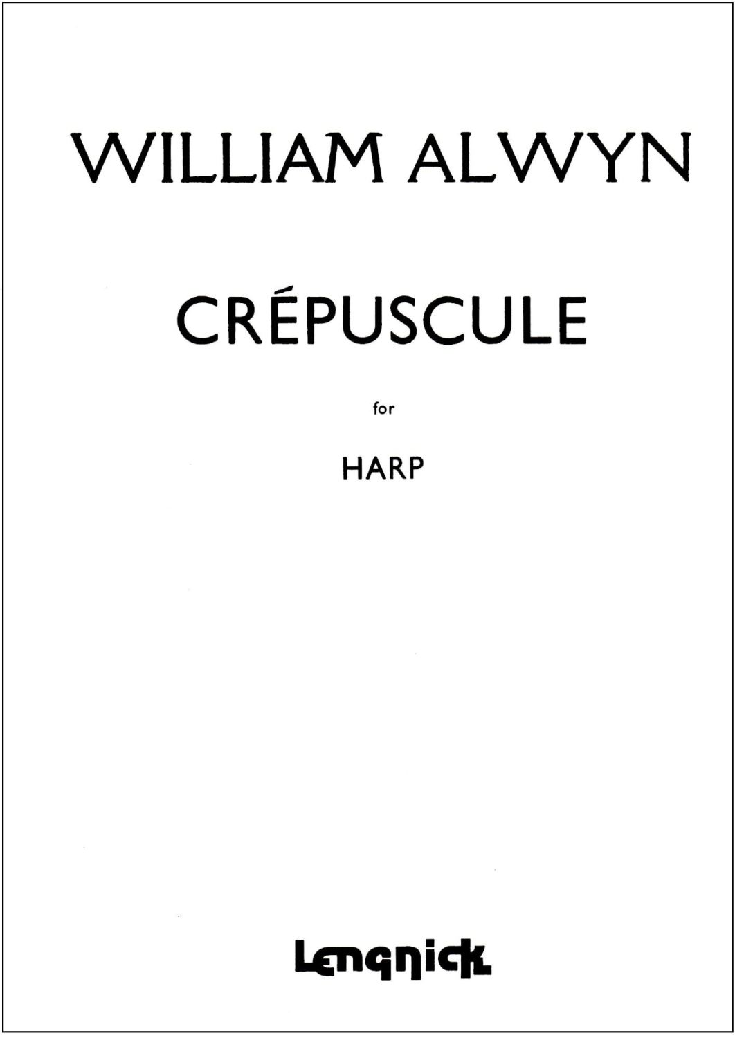 Crepuscule for Harp - William Alwyn