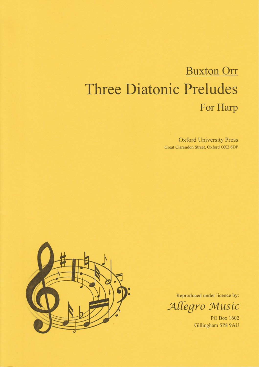 Three Diatonic Preludes for Harp - Buxton Orr