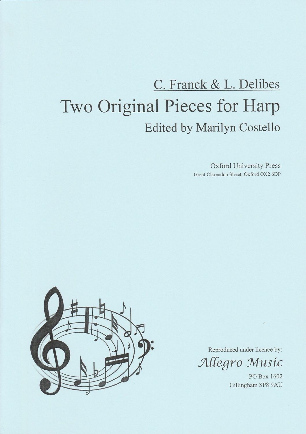 Two Original Pieces for Harp - Franck & Delibes