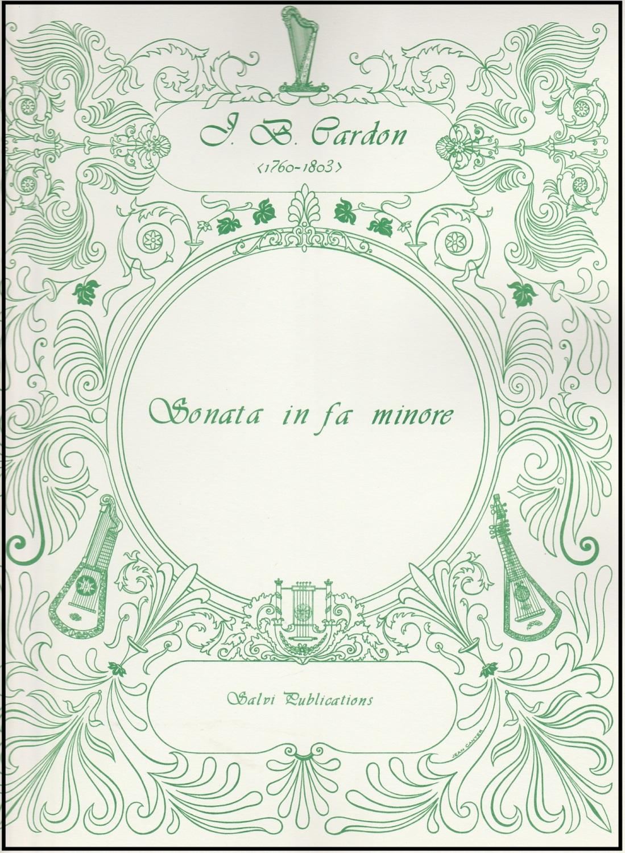 Sonata in fa minore - J.B. Cardon