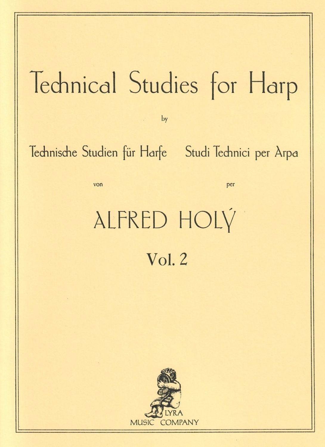 Technical Studies for Harp Vol. 2 by Alfred Holy