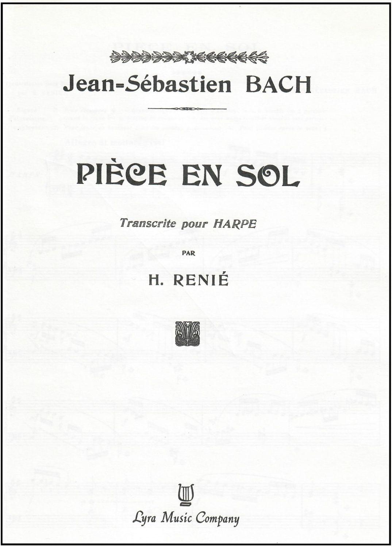 Piece En Sol - J.S. Bach