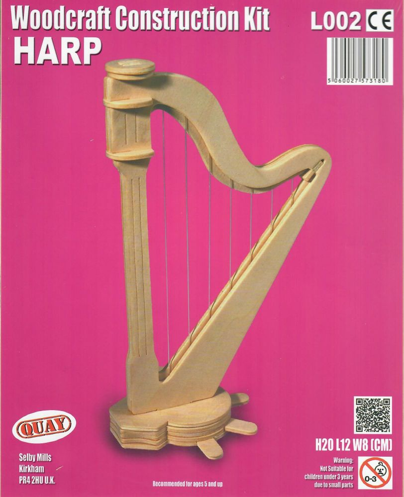 Woodcraft Construction Kit - Harp