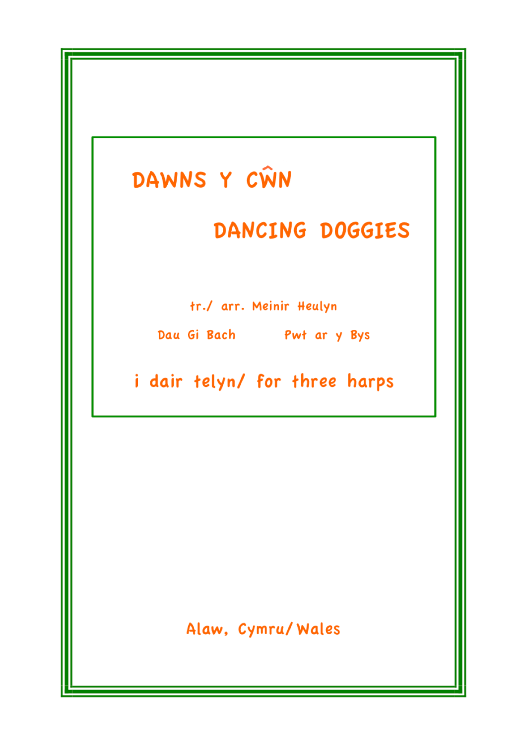 Dawns y Cwn - Dancing Doggies are Menir Heulyn
