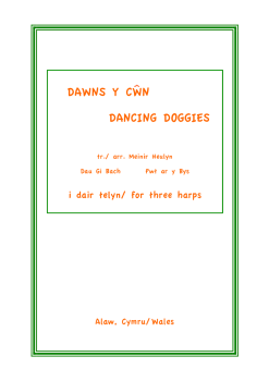 Dawns y Cwn - Dancing Doggies arranged by Menir Heulyn