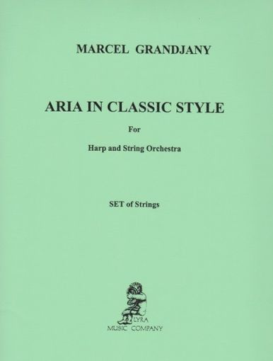 Aria in a Classical Style - String Parts - Grandjany