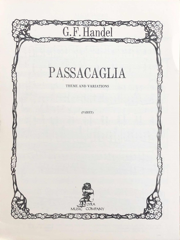Passacaglia - Theme and Variations - G.F.Handel