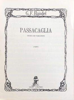 Passacaglia - Theme and Variations - G.F.Handel