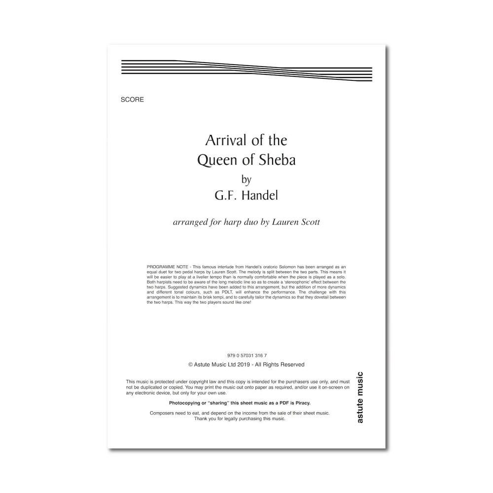 Arrival of the Queen of Sheba - Handel arr. by Lauren Scott (Digital)