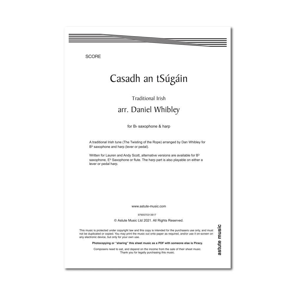 Casadh an tSúgáin - Harp & Saxophone in B Flat - Dan Whibley (Digital)