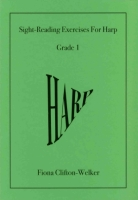 Sight-Reading Exercises for Harp (Grade 1) - Fiona Clifton-Welker