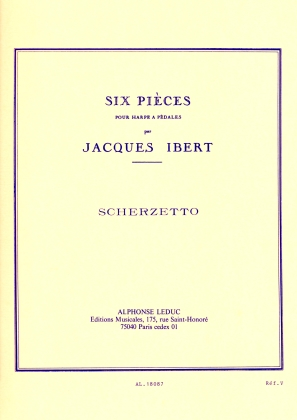 Scherzetto Pour Harpe A Pedales - Jacques Ibert