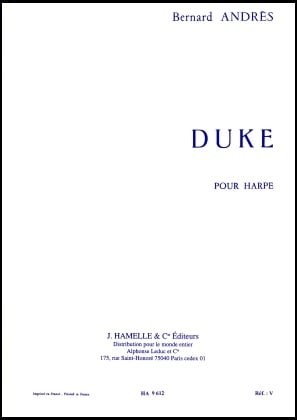Duke Pour Harpe - Bernard Andres