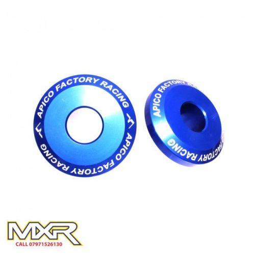 Apico Pro Rear Wheel Spacers Kawasaki Kx 125 250 Kxf 250 450 Blue