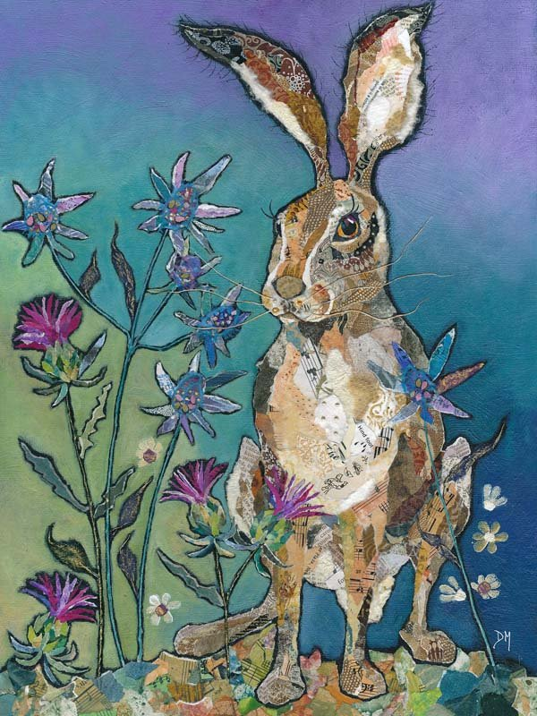 Hare & Thistle Flowers - Art Print