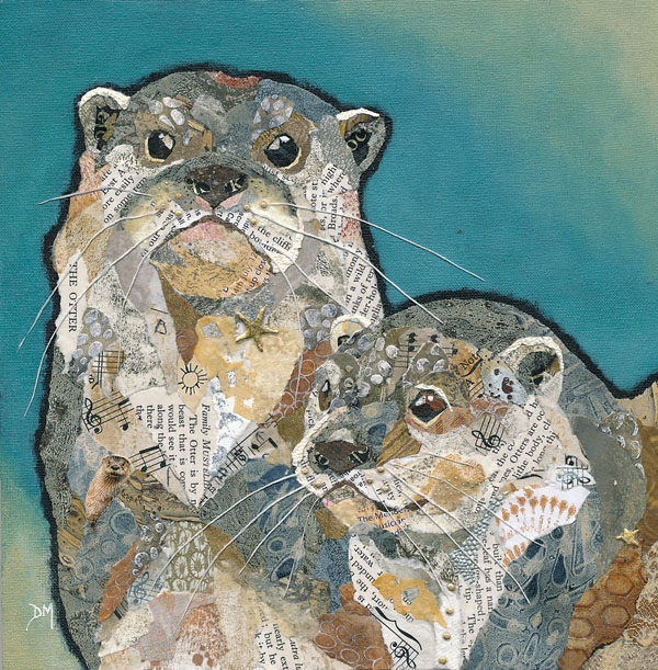 Two Otter Friends Art Print