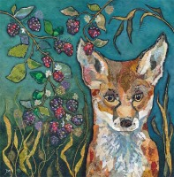 Fox in Brambles - Large Print
