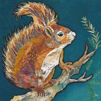 Wee Red Squirrel - Med Print